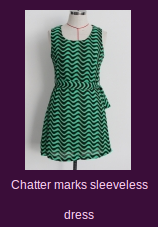 Chatter marks sleeveless dress