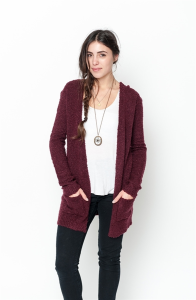 Buy online boucle open cardigan for women on sale at caralase.com