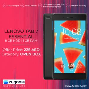 Lenovo Tab 7 Essential @ 225AED Only at Zuqoon