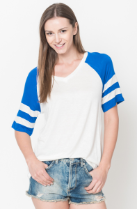 rugby short sleeve tee royal blue