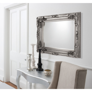 Carved Louis Rectangle Mirror