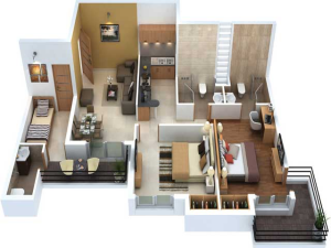 2-BHK-1189-SqFt flats in Noida Extension