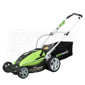 "Greenworks (19"") 36-Volt Rechargeable Cordless 3-in-1 Lawn Mower"