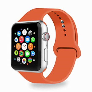 IYOU Sport Band Compatible With Watch Band 38MM 42MM 40MM 44MM, Soft Silicone Replacement Sport Stra