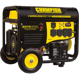 CHAMPION POWER EQUIPMENT PORTABLE GENERATOR — 9375 SURGE WATTS, 7500 RATED WATTS, REMOTE ELECTRIC ST