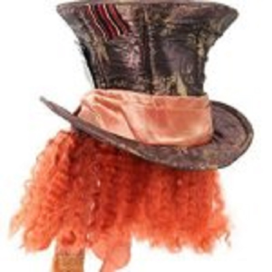 Disney Mad Hatter Hat With Hair For Women