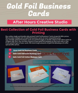 Gold Foil Business Cards from After Hour Creative Studio
