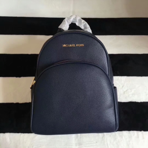 MICHAEL Michael Kors Abbey Leather Backpack Navy Blue