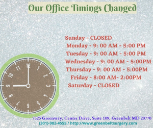 New Office Timing