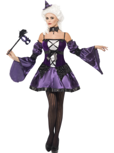 Women Costumes Halloween Witch Masquerade Costume for Carnival Halloween Party AR201807172355