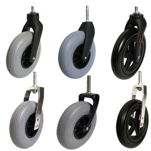 wheelchair front casters and wheels