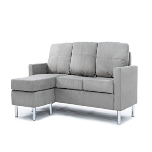 Modern Soft Brush Microfiber Sectional Sofa