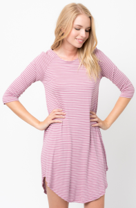 Buy Now Striped Half Sleeve Dress Online $34 -@caralase.com