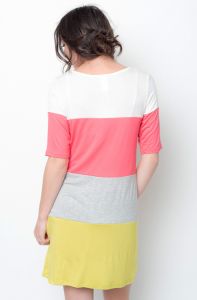 color block tunic dress  online