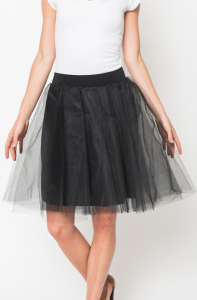 black tulle lined skirts for women on sale