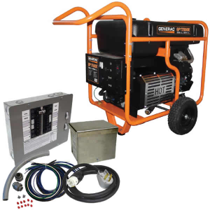 Generac GP17500E - 17,500 Watt Electric Start Portable Generator w/ Power Transfer Kit