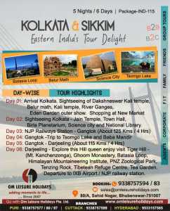 Kolkata and Sikkim Tour Delight