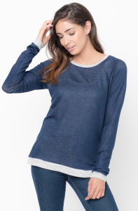Shop for Color Block Two Tone Pullover Crew Neck On Caralase.com