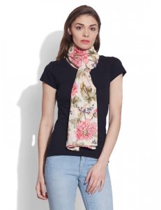 Cotton Printed Voile Scarf