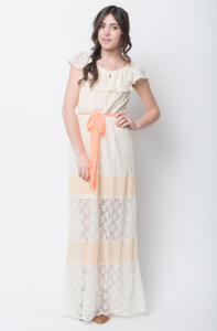cap sleeve maxi dress