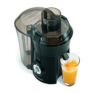Hamilton Beach 67601A Big Mouth Juice Extractor Electric Juicer, 800 Watt, Black