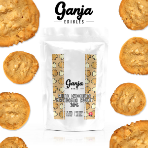 Ganja Edibles – White Chocolate Macadamia Cookie 30MG
