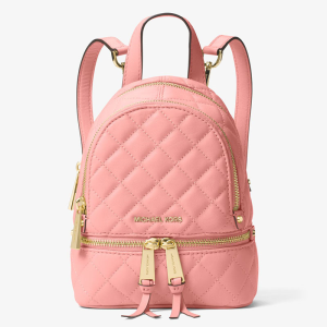 MICHAEL Michael Kors Rhea Extra-Small Quilted-Leather Backpack Pink