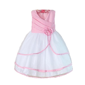 Gorgeous Pink and White Frock for Little Princess