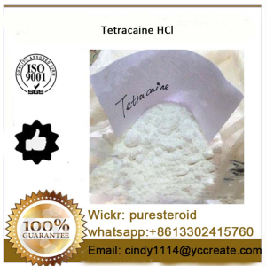 Pharmaceutical Material Powder Tetracaine HCl for Local Anesthetic whatsapp+8613302415760