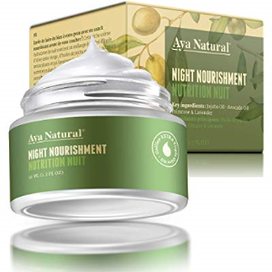 All Natural Night Cream Face Moisturizer - Vegan Anti Aging Night Time Anti Wrinkle Dark Spot Correc