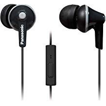 PANASONIC ErgoFit Earbud Headphones With Microphone And Call Controller Compatible With IPhone, Andr