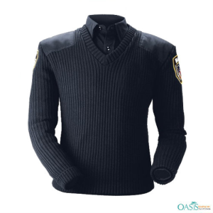 Classic V-Neck Police Sweater