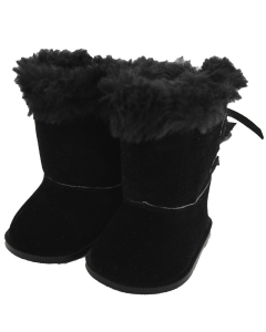 American Girl Doll Shoes- Black Hugg Boots