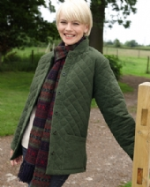 Moleskin Quilted Jacket in Sage 111 SA