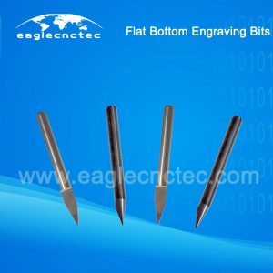 Flat Bottom Engraving Bits V Bit Conical Tools for Wood Carving