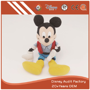 Mickey Mouse Plush Toys Customized Color Embroidery Pattern