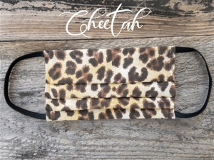 Reusable Fabric Face Mask with Pocket for Filter - Cheetah Design