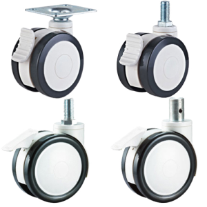 dual wheels medical casters