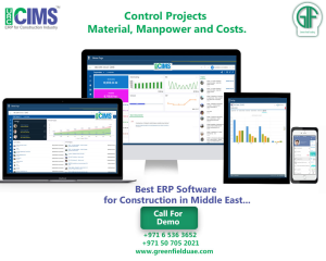 ERP for construction industry in Dubai, UAE