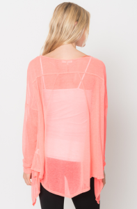 asymmetrical tunic tops pink