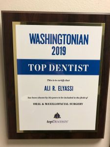 Washingtonian magazine recognition- Top Dentist