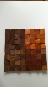 Wall panels wood rock