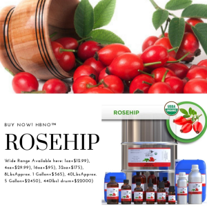 Buy Now! HBNO™ Organic Rosehip Oil - 100% Pure & Natural