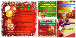 Socratic Christmas Packages Promo