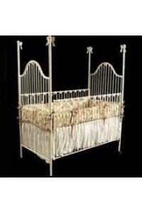 Corsican Bow II Four Post Iron Crib clas