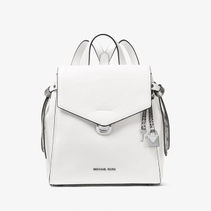 MICHAEL Michael Kors Bristol Small Leather Backpack White