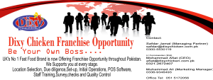 Dixy Franchising Opportunity in Pakistan