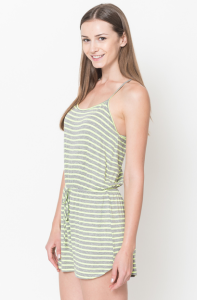 striped rompers lime