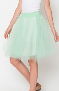 tulle lined skirts for women
