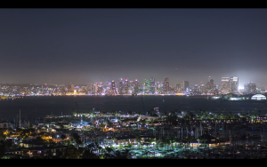 Skyscrapers Lighting in San Diego and Waterfront